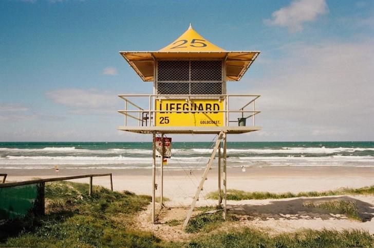 lifeguard tower gold coast australia c