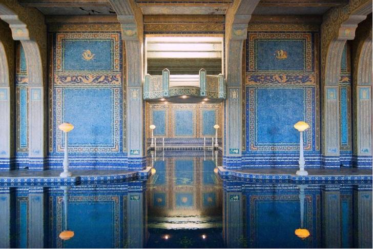 roman pool hearst castle san simeon ca c