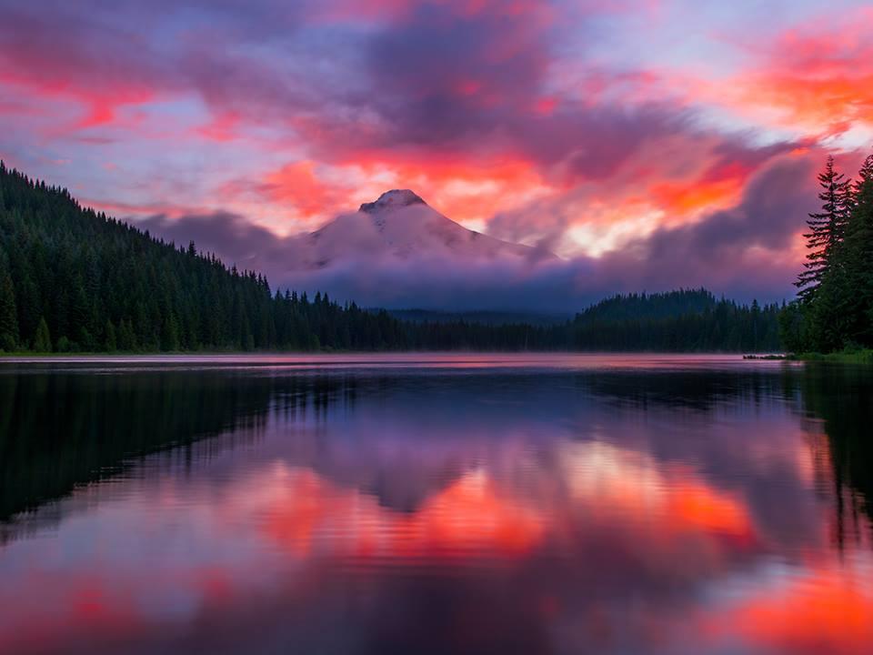 Trillium Gölü, Oregon