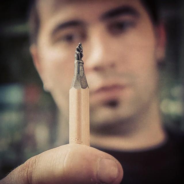 kalem ucundan heykel