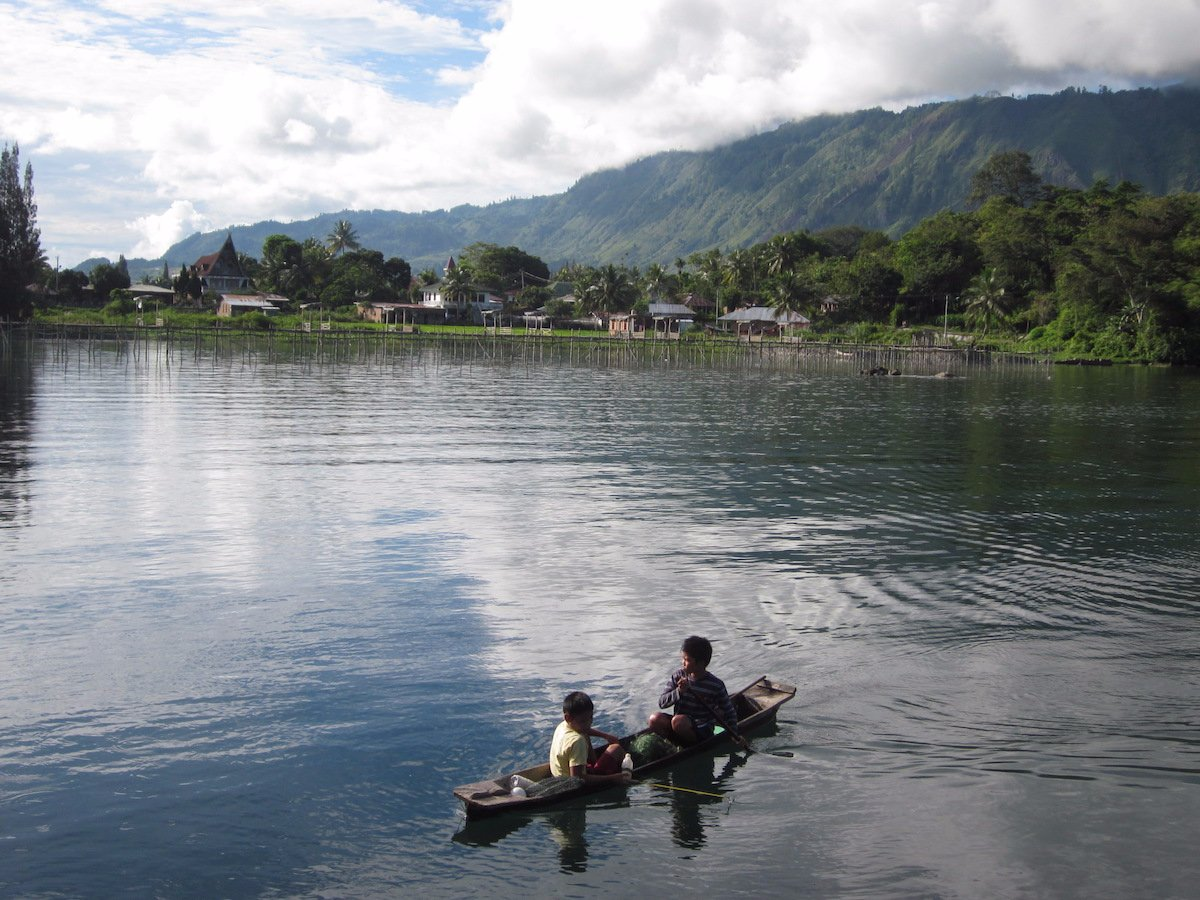 stay in a homestay at lake toba indonesia