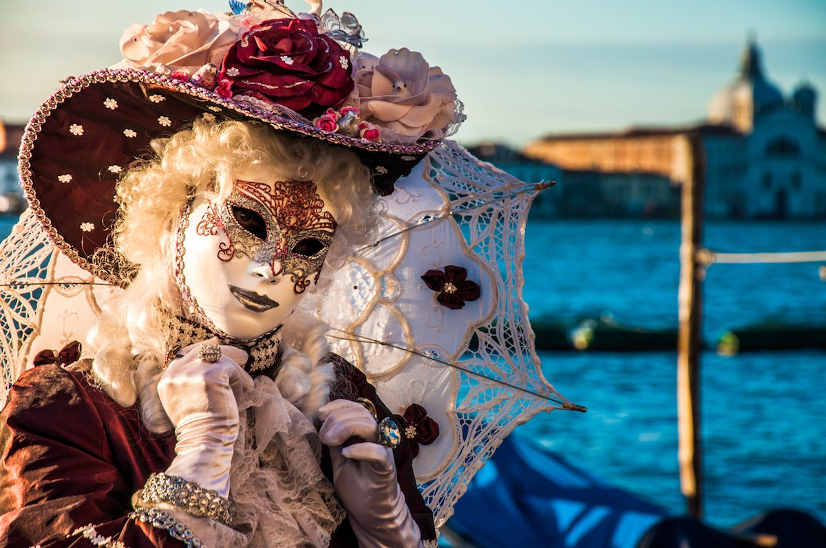 take part in the masked celebrations of carnevale in venice italy