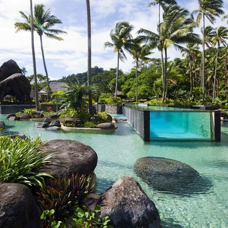 fiji laucala island resort pool