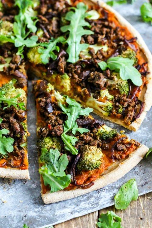 vegan butternut pizza