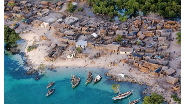 beautiful african sea side village photo by michael poliza
