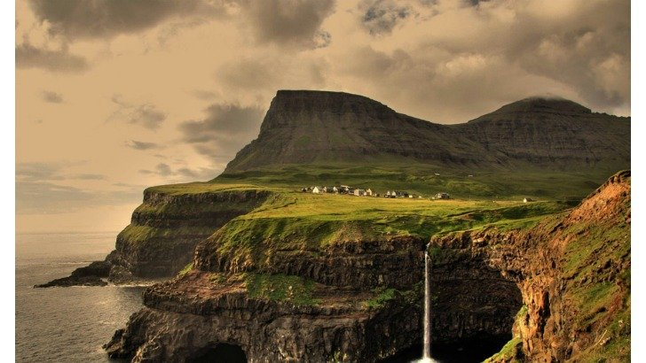 gasadalur village faroe islands photo gareth codd