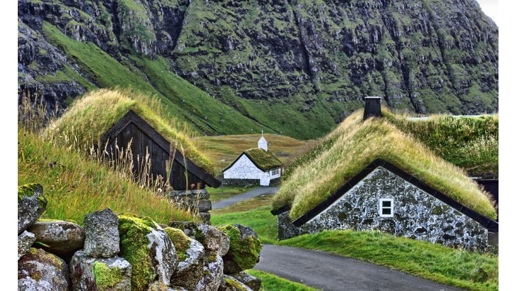green roof houses of faroe islands photo by joan petur olsen