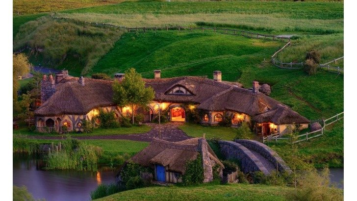 hobbiton village lord of the rings movie location in new zealand photo by weta workshop