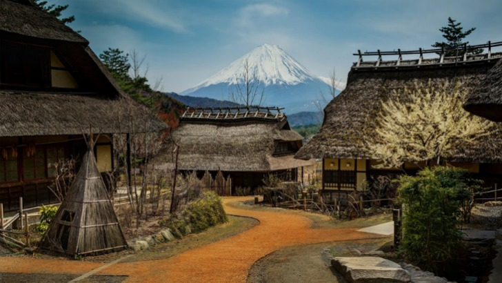 small village bellow mount fuji japan photo by trey ratcliff