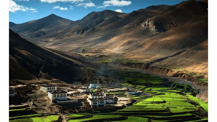 village located in himalayas tibet photo by coolbie re