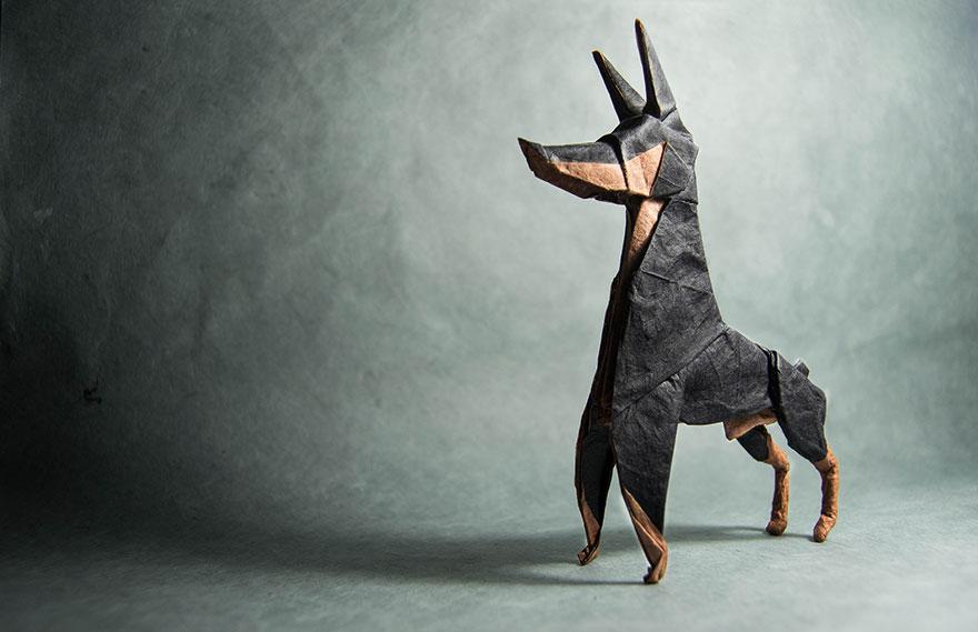 origami köpek