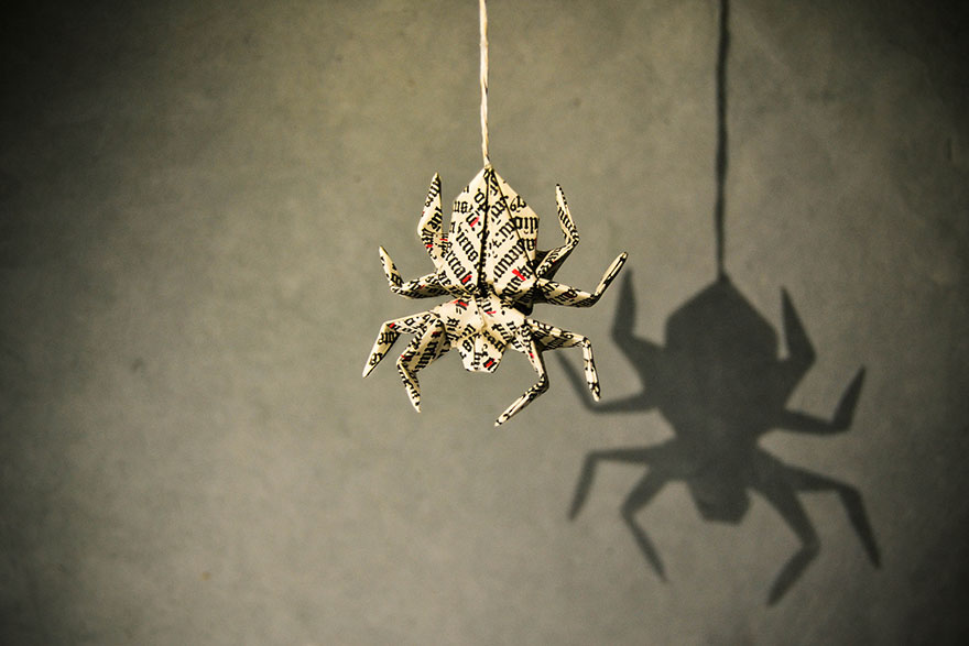 origami örümcek