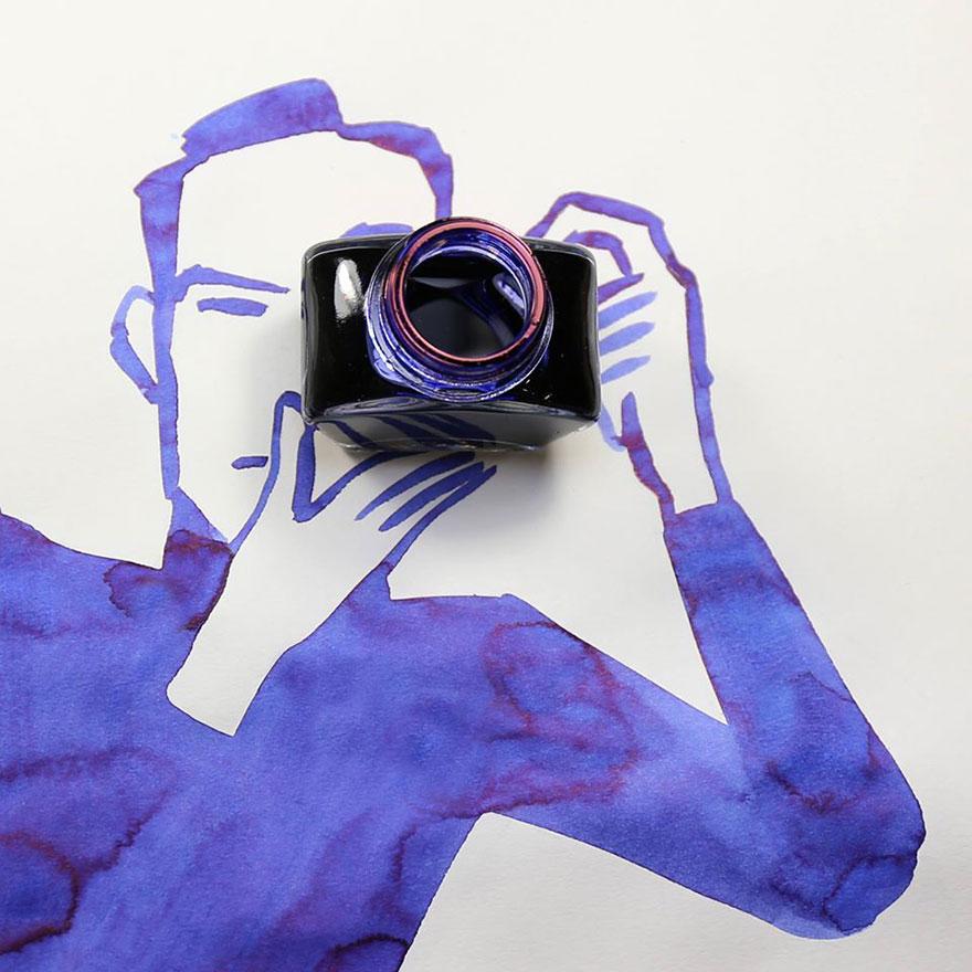 illüstrasyon fotoğraf makinesi