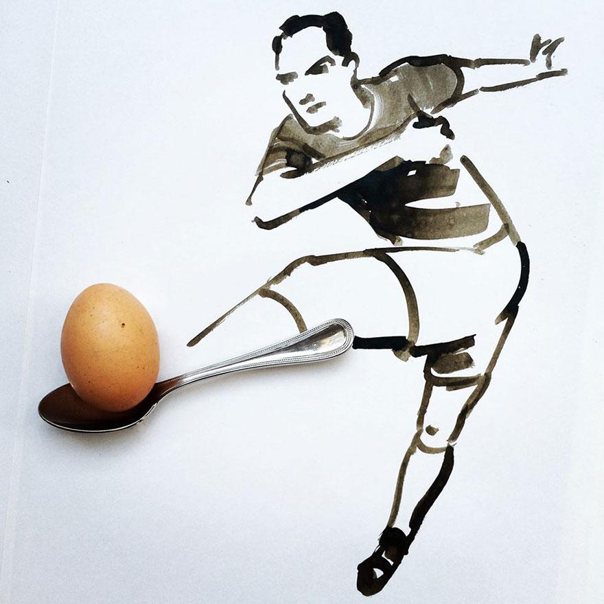 illüstrasyon futbolcu