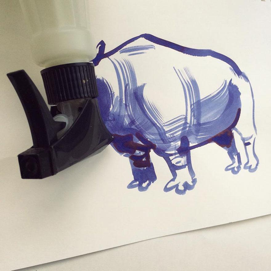 illüstrasyon bizon