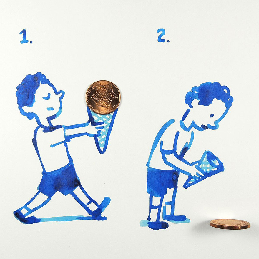 illüstrasyon dondurma