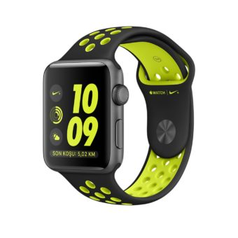 Apple Watch Nike  mm Uzay Grisi Aluminyum Kasa Siy