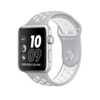 Apple Watch Nike  mm Gumus Rengi Aluminyum Kasa Ma
