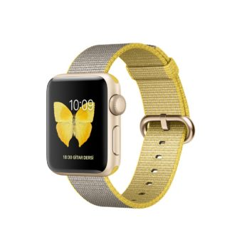 Apple Watch Series   mm Altin Aluminyum Kasa Nayl