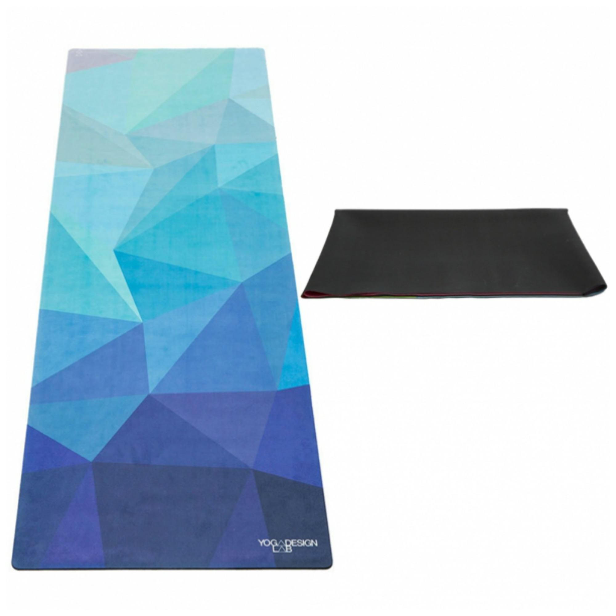 geo blue yoga travel mat