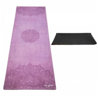 mandala purple travel yoga mat
