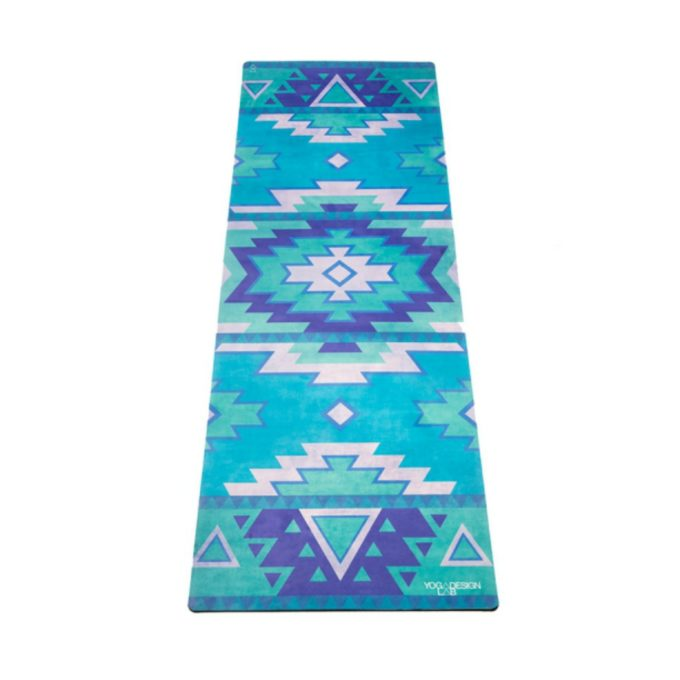 tribal blue combo yoga mat