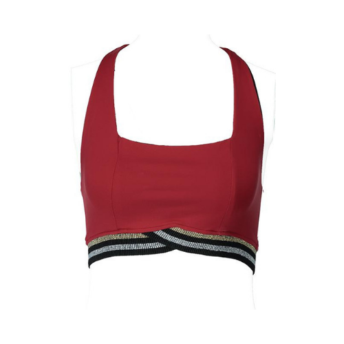 yorstruly glitz bra top fire red 3
