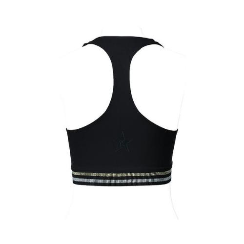 yorstruly glitz bra top metallic black 4