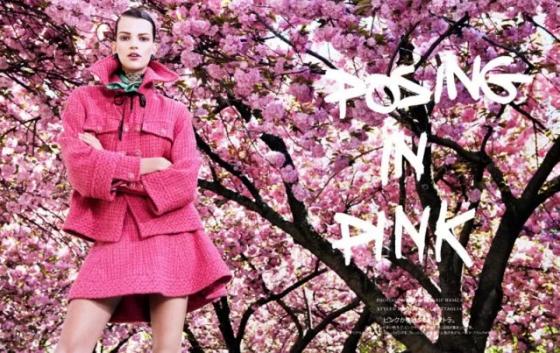 Bette Franke Posing in Pink