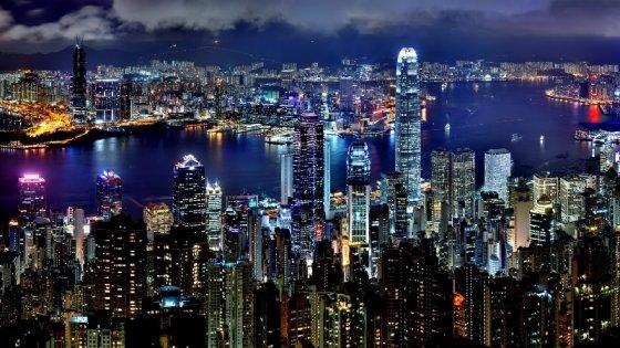 Hong Kong gece