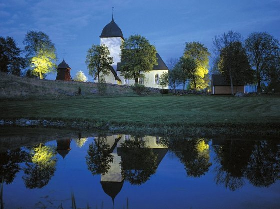 church-at-night-sweden