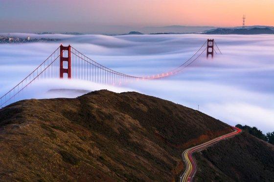 SAN FRANCISCO ÜZERINDE SIS