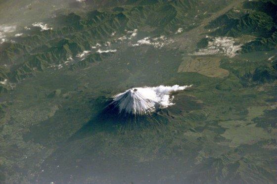 uzaydan fuji dağı