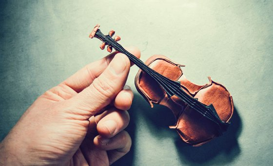 violin origami