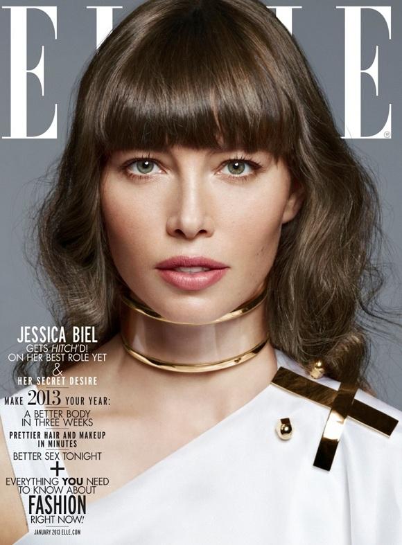 Elle Dergisi Ocak sayısı Jessica Biel çekimi