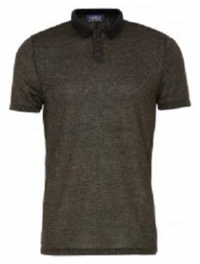 topman gold lurex polo tshirt