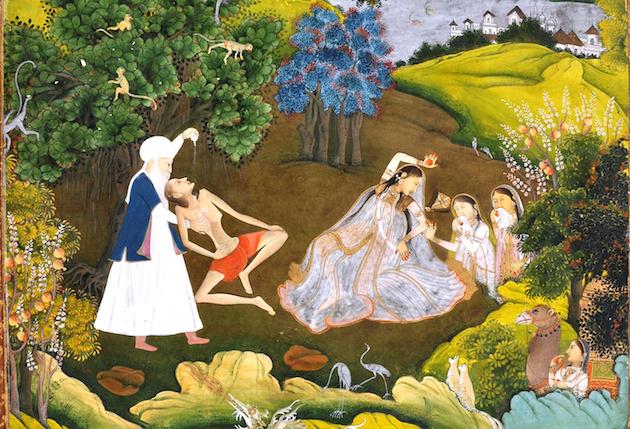 Fainted_Laila_and_Majnun-Based_on_the_Khamsa_of_Persian_poet_Nizami_-_Google_Art_Project