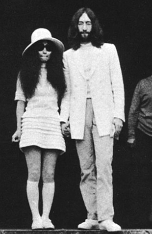 Yoko Ono Wedding Dress