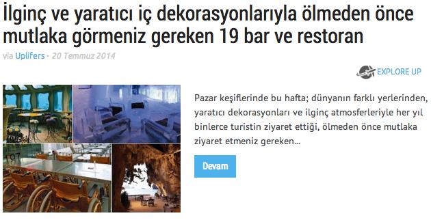 Dekorasyonu ilginç olan restoran ve barlar