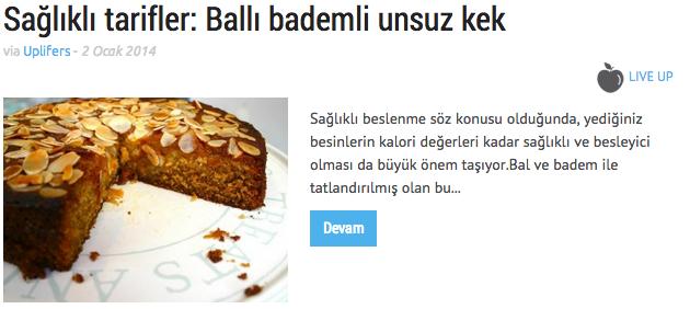 ballı kek tarifi