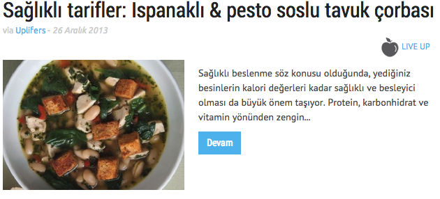 Ispanaklı ve pesto soslu çorba