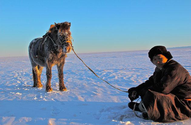 Gobi desert, winte