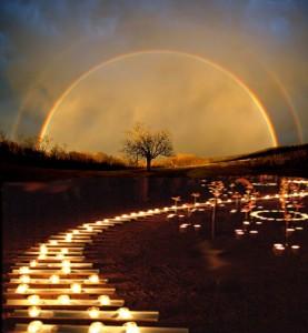 lighting way to rainbow bridge
