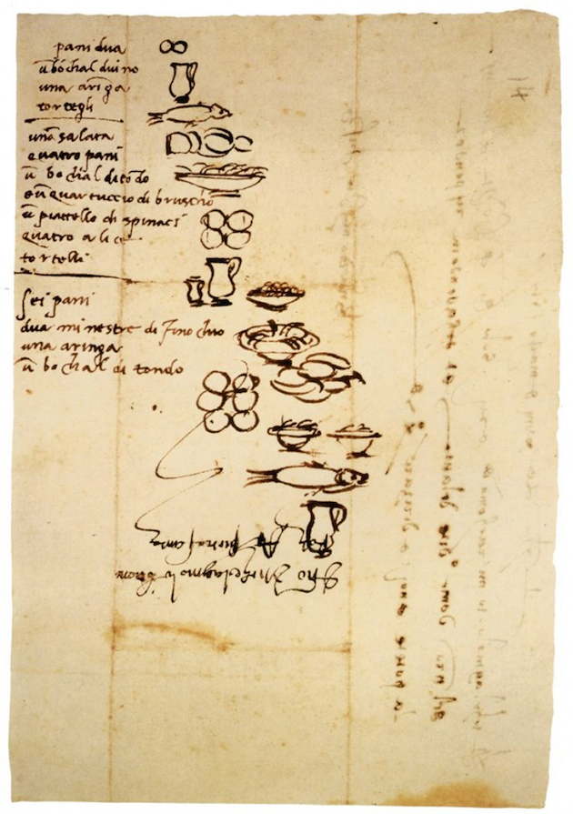 Michelangelo-illustrated-his-grocery-lists-so-that-his-illiterate-servants-would-know-what-to-buy-him
