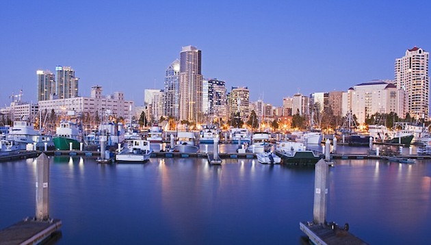 Tuna Harbor in San Diego at Twilight