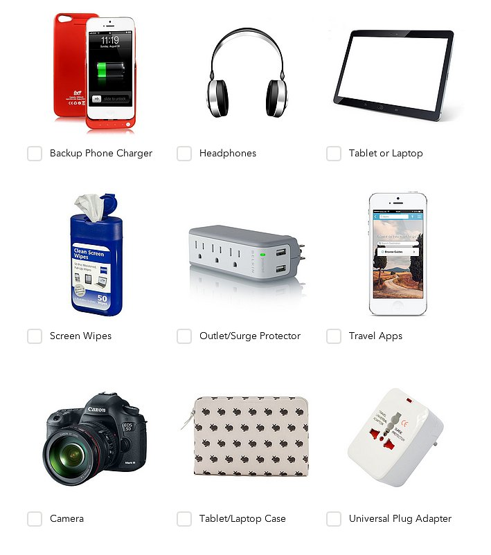 Use-tech-travel-checklist-pack