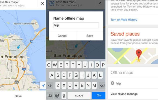 google mapse çevrimdışı erişim