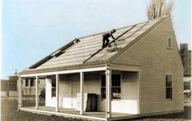 ilk güneş enerjili ev