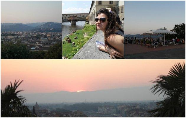 Michelangelo tepesi, şehir manzarasını çok iyi bir açıdan yakalıyor.