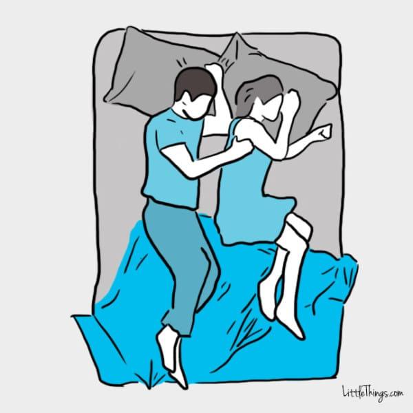 Uyku pozisyonunuz partnerinizle birlikte nasıl bir çift olduğunuzu gösteriyor